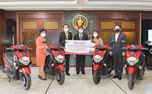 ยามาฮ่า หนุนกรุงเทพมหานคร มอบจักรยานยนต์ FreeGo 2 คัน ลุยภารกิจต้านภัยไวรัสโควิด-19