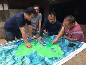 ชุมชนร่วมกันวางเเผนการบริหารจัดการน้ำ ด้วยการใช้ความรู้ในการศึกษาจากแผนที่