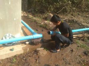 ชุมชนสร้างถังเก็บน้ำเพิ่อใช้อุปโภคบริโภค