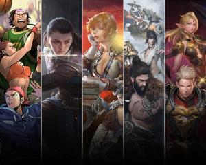 (จากซ้ายไปขวา) Free Style, Game of Thrones Winter is Coming, ArcheAge,  Hunter's Arena:Legends, Rebirth Online