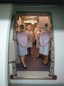 การบินไทยจัดเที่ยวบินพิเศษ รับคนไทยจากเกาหลี 204 คน กลับบ้าน