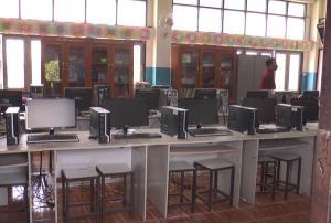 ห้องคอมพิวเตอร์ของโรงเรียน ที่เกิดเหตุ