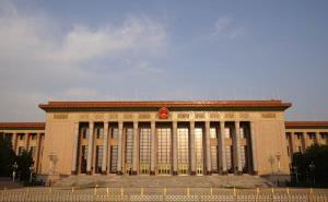 """มหาศาลาประชาชนจีน กรุงปักกิ่ง สถานที่จัด """"การประชุมสองสภา"""" ถ่ายเมื่อวันที่ (แฟ้มภาพซินหัว  29 เม.ย. 2020)"""