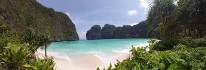 อ่าวมาหยา หลังปิดอ่าวใกล้จะครบ 2 ปี (ภาพ : เพจ อช. หาดนพรัตน์ธารา-หมู่เกาะพีพี โพสต์เมื่อ 23 พ.ค. 63)