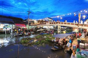"""""""6 ตลาดน้ำ"""" ชวนเที่ยวชอปปลอดภัย ภายใต้มาตรการป้องกันโควิด-19"""
