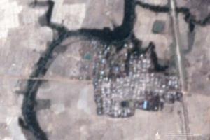 ภาพถ่ายดาวเทียมจาก Planet Labs ถ่ายเมื่อวันที่ 18 พ.ค. เผยให้เห็นหมู่บ้านเลตการ์ ในรัฐยะไข่ ที่เชื่อว่าสิ่งปลูกสร้างจำนวนมากถูกเผาทำลายเสียหาย. -- AFP.