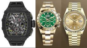 นาฬิกาข้อมือแบรนด์หรูของ