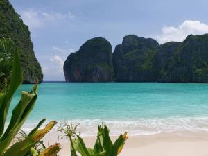 ภาพอ่าวมาหยาปัจจุบัน หลังการปิดอ่าว (ภาพ : เพจ อช. หาดนพรัตน์ธารา-หมู่เกาะพีพี)