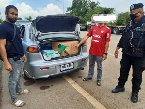รวบหนุ่มสระแก้วคิดรวยทางลัด ลอบขนบุหรี่เถื่อนจากกัมพูชาเข้าไทย