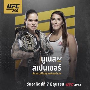 จุใจ! เปิดโผศึก UFC 250 ครบ 11 คู่