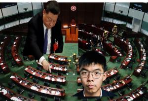 """In Clip: สภาเลกโกฮ่องกงผ่าน """"กม.หมิ่นเพลงชาติจีน"""" ตำรวจบุกเข้าห้องประชุมหลัง """"ส.ส ฝ่ายประชาธิปไตย"""" เทของเหลวเหม็นคลุ้งขวางประชุม """"โจชัว หว่อง"""" ยันไม่ย้ายหนีไปต่างประเทศ"""