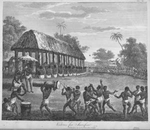 ภาพการบูชายัญทาส