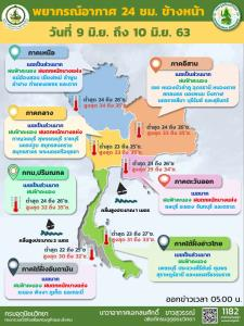 มรสุมยังอยู่! เตือนทั่วไทยฝนถล่ม เหนือ-ตะวันออก-ใต้ตะวันตก ระวังอันตราย-เสี่ยงน้ำท่วมฉับพลัน กทม.โดนร้อยละ 60