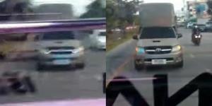 กู้ภัยงง! กระบะขับจี้ตูดรถฉุกเฉิน ทั้งที่ในรถมีผู้ป่วย หวั่นเบรกกะทันหันทำเกิดอุบัติเหตุ