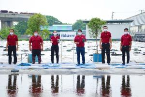 """""""ตลาดสี่มุมเมือง"""" เดินหน้าฟื้นฟูสิ่งแวดล้อมรอบตลาด ลงทุน 40 ล้านเปิดใช้ระบบบำบัดน้ำเสีย คืนน้ำดีให้ชุมชน"""