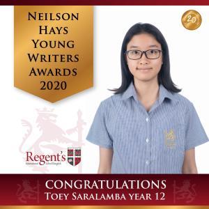 """2 คนเก่ง ร.ร. นานาชาติรีเจ้นท์กรุงเทพฯ คว้ารางวัลชนะเลิศ """"นักเขียนเยาวชนรุ่นอายุ 16 ปี"""""""