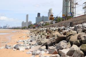 ลุยต่อปลาย มิ.ย.นี้ กรมเจ้าท่าทุ่มอีก 586 ล้านเดินหน้าโครงการถมทรายหาดนาจอมเทียน