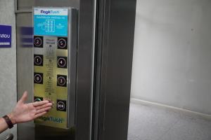 สวทช.โชว์นวัตกรรมปุ่มกด 'ลิฟต์ไร้สัมผัส' รับ 'นิว นอร์มอล'