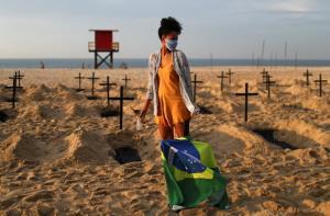 ยอดตายโควิด-19 ในบราซิลแซงหน้า UK รั้งอันดับ 2 ของโลก