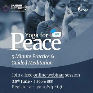 สถาบันคานธี ม.รังสิต จัดสัมมนาออนไลน์ฟรี เรื่อง Yoga for Peace