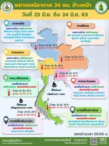 กระหน่ำทั่วไทย! กทม.-ตะวันออก-ใต้ ฝนตกหนัก เตือนระวังอันตราย คลื่นทะเลอาจสูงเกิน 2 ม.