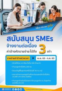 """""""สรรพากร"""" หนุน SMEs รักษาการจ้างงานลูกจ้าง ออกมาตรการหักลดหย่อนค่าใช้จ่ายสูงถึง 3 เท่า"""