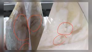 """ผู้บริโภคเบาใจ! นักวิจัยยันเส้นขาวๆ ในสินค้าฮิตไข่ปลาหมึก คือ """"สเปิร์มอสุจิหมึก"""" ไม่ใช่พยาธิ ทานได้"""