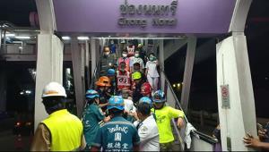 รถไฟฟ้าชนคนงานก่อสร้างส่วนขยายชาวพม่าเจ็บ รอผู้บริหารบีทีเอสชี้แจง