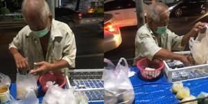 สาวใจบุญ! โพสต์ชวนอุดหนุนลุงขายขนมหวาน ริมถนนสถานีรถไฟฟ้า BTS ราชเทวี
