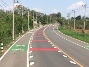 ทช.ปรับปรุงถนนวังน้ำเขียว พร้อมเลนจักรยานเสร็จแล้ว -หนุนเดินทางท่องเที่ยวปลอดภัย