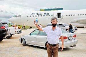 """เปิดแล้ว! ร้านกาแฟเครื่องบิน """"COFFEE WAR"""" พร้อมมาตรฐานใหม่ป้องกันโควิด-19"""