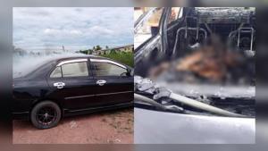 ตามหาญาติ! ชายอายุ 30-40 ปี รมควันเสียชีวิตปริศนาในรถ จนไฟไหม้รถทั้งคัน
