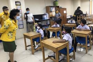 """โรงเรียนสังกัดเทศบาลเมืองป่าตองพร้อม 100% เปิดเรียนวันแรกรูปแบบ """"New Normal"""""""