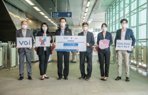 คิเรอิคิเรอิ เดินหน้ารณรงค์ให้คนไทยห่างไกลโรคระบาด มอบเจลล้างมือ คิเรอิคิเรอิ ให้บีทีเอส