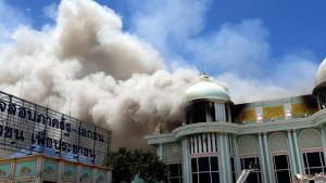 วอดกว่า 200 ล้านบาท อาคารพุทธบารมีบ้านสุขาวดี หลังเกิดเหตุเพลิงไหม้หนัก