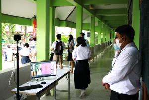 เปิดเรียน New Normal วันแรก โรงเรียนเมืองช้างงัดมาตรการป้องกันโควิด-19 เข้มข้น