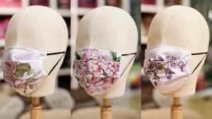 สายหวานป้องกันโควิด! ร้านภูฟ้าเปิดขายหน้ากากผ้าลายดอกไม้จากพระตำหนักดอยตุง