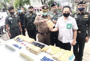 ตำรวจเมืองช้างโชว์ผลงาน! รวบ 7 แก๊งเครือข่ายค้ายานรกข้ามชาติ ยึดยาบ้ากว่า 1.6 แสนเม็ด