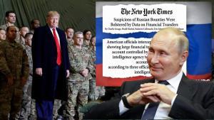 "<b><Font color = blue>In Clip: </font></b>นิวยอร์กไทม์สระบุ ค่าหัวล่าทหารอเมริกันสูงสุดถึง $100,000  ""ทรัมป์"" แถ ""ข่าวรัสเซียจ้างฆ่าของปลอม"""