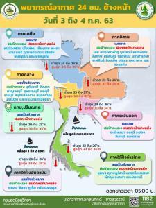 มรสุมกระหน่ำ! ทั่วไทยฝนตกหนัก พื้นที่เสี่ยงภัยระวังอันตราย ซัดกรุงร้อยละ 60