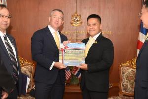 รมว.ทส. ต้อนรับเอกอัครราชทูตสหรัฐอเมริกาประจำประเทศไทย