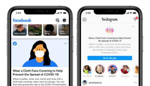 Facebook ควง Instagram เตรียมเตือนทุกคนสวมหน้ากากอนามัย