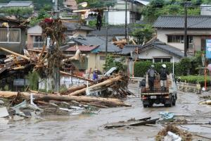 In Pics: ญี่ปุ่นเร่งช่วยเหยื่อ 'น้ำท่วม-ดินถล่ม' อุตุฯ เตือนฝนตกหนักต่อเนื่องถึง 12 ก.ค.