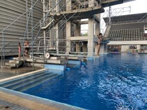 """""""อุปนายกว่ายน้ำ"""" ตรวจเยี่ยมให้กำลังใจ ทีมกระโดดน้ำไทย"""