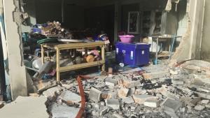 แก๊สรั่ว! ระเบิดบ้านกลางเมืองราชบุรี พังเสียหาย 9 หลัง บาดเจ็บ 4 ราย