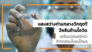 แสงสว่างท่ามกลางวิกฤต!! วัคซีนต้านโควิด เตรียมปล่อยปีหน้าถ้าทดสอบในคนได้ผล