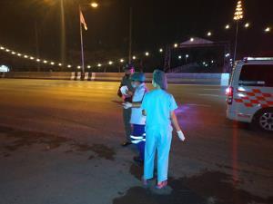 หนุ่มรุ่นขับเก๋งชนคนข้ามถนนเสียชีวิตปากซอยรังสิต-นครนายก 19