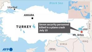 เครื่องบินลาดตระเวนตุรกี 'ชนภูเขา' ลูกเรือตายยกลำ 7 ศพ