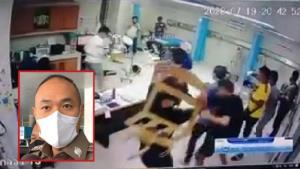 เร่งล่าแก๊งโจ๋เมืองปากน้ำยกพวกตะลุมบอนอริในโรงพยาบาล ทำร้ายหมอ-พยาบาล เอาผิด 3 ข้อหาหนัก