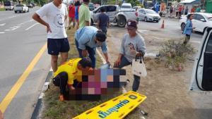 เกิดอุบัติเหตุซ้อนบนถนนเพชรเกษม รถชนกันหลายคัน เจ็บ 6 ราย